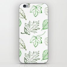 Leaves (greens) iPhone Skin