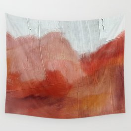 Desert Journey [2]: a textured, abstract piece in pinks, reds, and white by Alyssa Hamilton Art Wall Tapestry