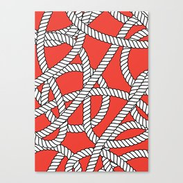 Red Rope Pattern Canvas Print