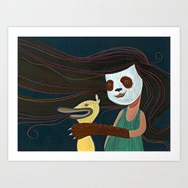 A Matadora de Patinhos Art Print