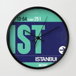 IST Istanbul Luggage Tag 1 Wall Clock