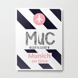 MUC MUNICH airport mdrn Metal Print