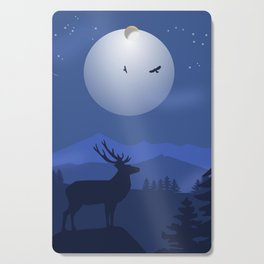 Mystical Night in the Mountains Cutting Board