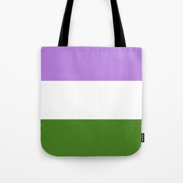 Genderqueer Pride Flag Tote Bag