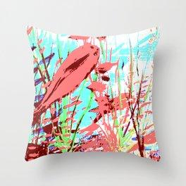 Pink Fish Throw Pillow