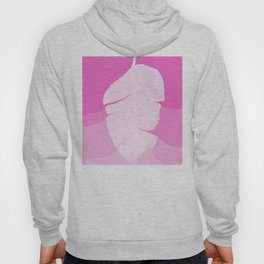 Tropical Banana Leave Pastel Pink Ombre Design Hoody