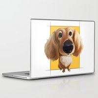 dachshund Laptop & iPad Skins featuring dachshund by joearc