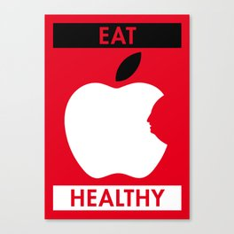 Illustrated new year wishes: #6 EAT HEALTHY Canvas Print