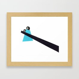 Last glance Framed Art Print