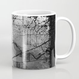 Old Metal Map Coffee Mug