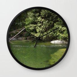 Waterhole in the Forest Wall Clock