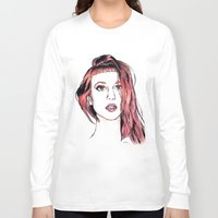 hayley williams Long Sleeve T-shirts featuring Hayley Williams by Adora Chloe