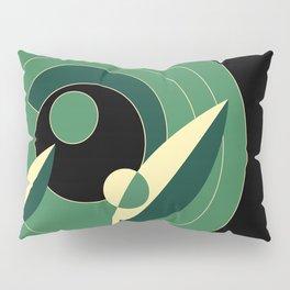 Retro Deco Green Pillow Sham