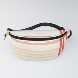 Orange line pattern beautiful, abstract and simple Fanny Pack
