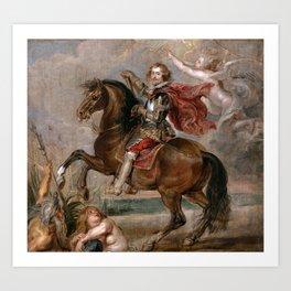 Peter Paul Rubens: Equestrian Portrait of the Duke of Buckingham Art Print