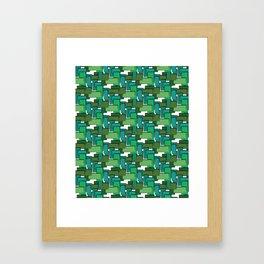 Order, green Framed Art Print