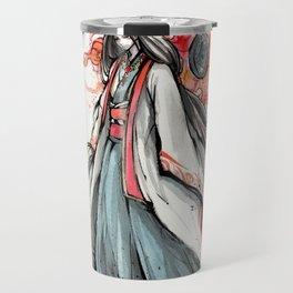 Amaterasu Omikami Japanese sumi watercolor Travel Mug
