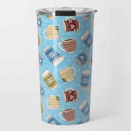 Cozy Mugs - Bg Blue Wood Travel Mug