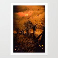 Samhain Contemplative -- Trick or Treat Smell My Feet Art Print