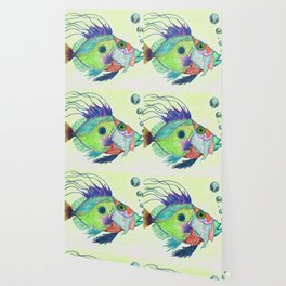 Funky Fish Art - By Sharon Cummings Wallpaper