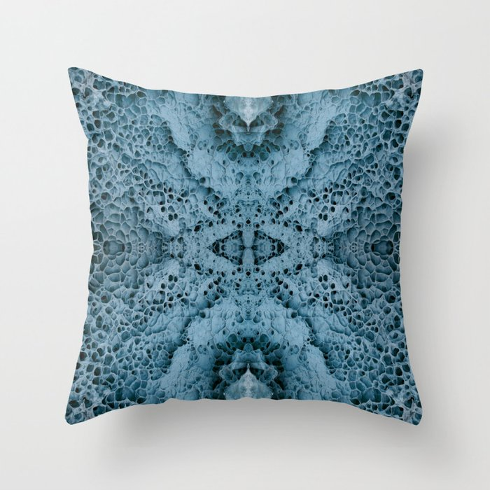 Stone glacier Throw Pillow