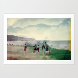 picnicking in the sky Art Print