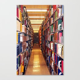 Library Books Canvas Print