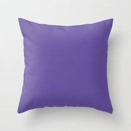 Ultraviolet Purple Pantone Color of The Year 2018 Throw Pillow