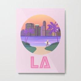Los Angeles City Art Metal Print