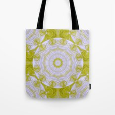 Green and white quilt kaleidoscope Tote Bag