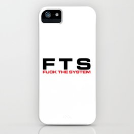 F*ck The System Music Quote iPhone Case