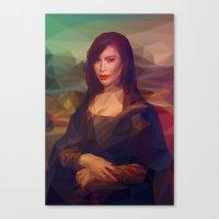 kim kardashian Canvas Prints featuring La Gioconda / Kim Kardashian / Mona Lisa by Breno Bitencourt