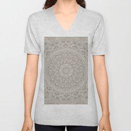 Mandala - Taupe Unisex V-Neck