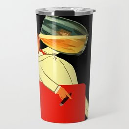 Retro French beer ad Le Bon Bock Travel Mug