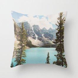 Moraine Lake II Banff National Park Throw Pillow