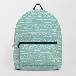 Blue Scribbles Pattern 05 Backpack