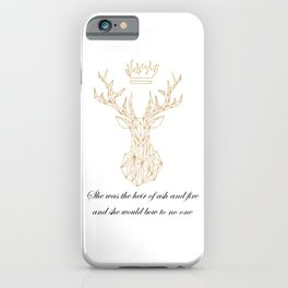 The Heir of Ash and Fire Terrasen Golden Stag iPhone Case