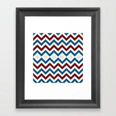Nautical Chevron Framed Art Print