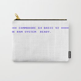 Commodore 64 System Ready Startup Screen v01 Carry-All Pouch
