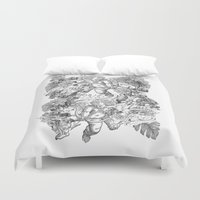 angels Duvet Covers featuring ANGELS by TOO MANY GRAPHIX