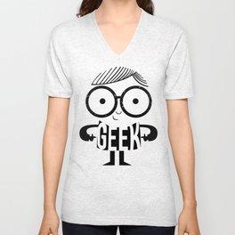 Geeky Nerdy Unisex V-Neck