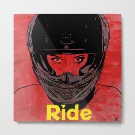 Ride / title Metal Print