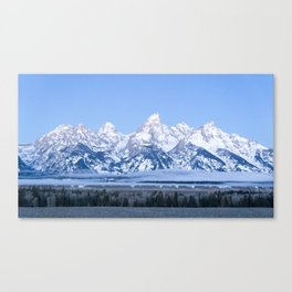 Tetons before Sunrise Canvas Print