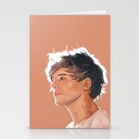 louis tomlinson Stationery Cards featuring Louis Tomlinson  by Danny Jarratt