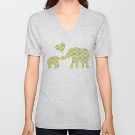 Elephant Hugs Unisex V-Neck