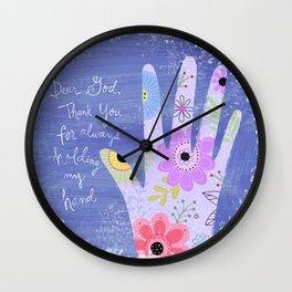 Thank you God (Hand art) Wall Clock
