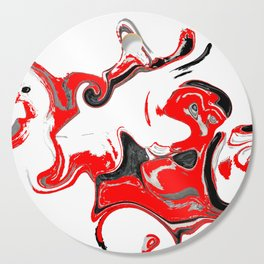 contradiction abstract digital painting Cutting Board
