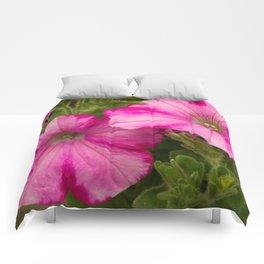 Pink Pansies Comforters