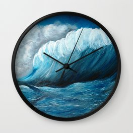 Stormy Sea Wall Clock