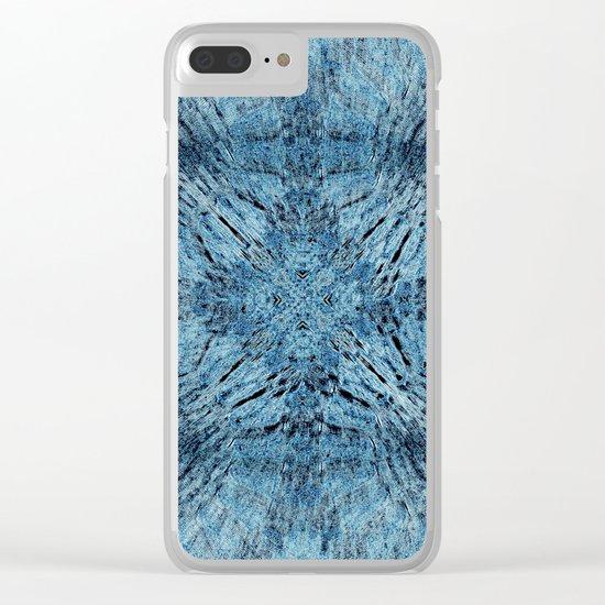 Spun Denim Mandala Clear iPhone Case